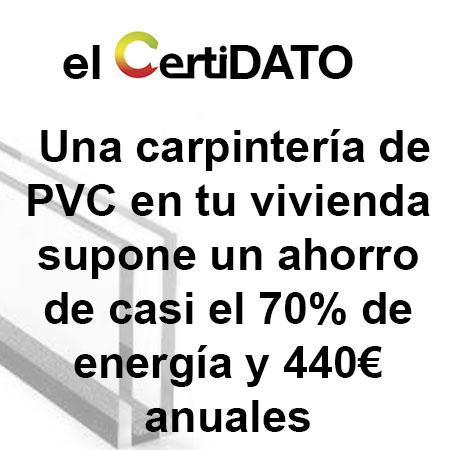 Certificado Energetico con carpintería de PVC