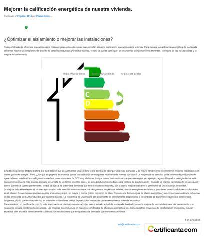 MEJORAR LA CALIFICACIÓN ENERGÉTICA de un CERTIFICADO ENERGÉTICO